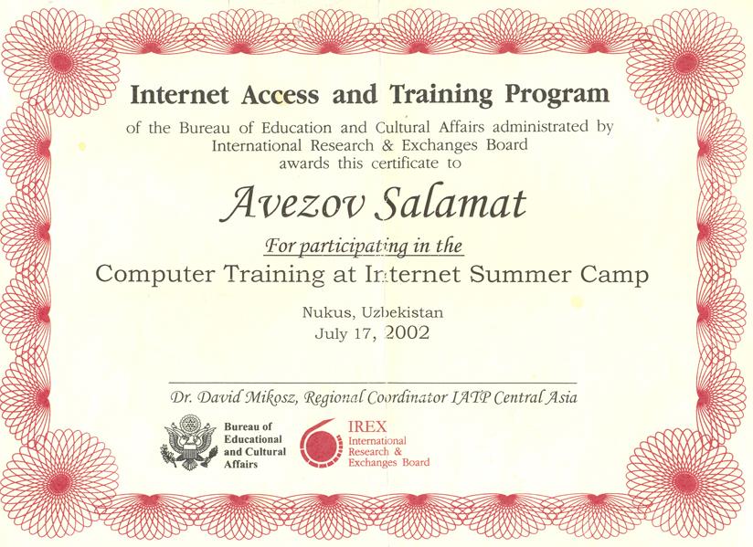 Computer Training at Internet Summer
